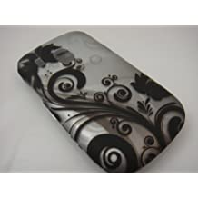BLACK VINES Hard Rubber Feel Plastic Design Case for LG 500g (TracFone) + Car Charger [In Twisted Tech Retail Packaging]