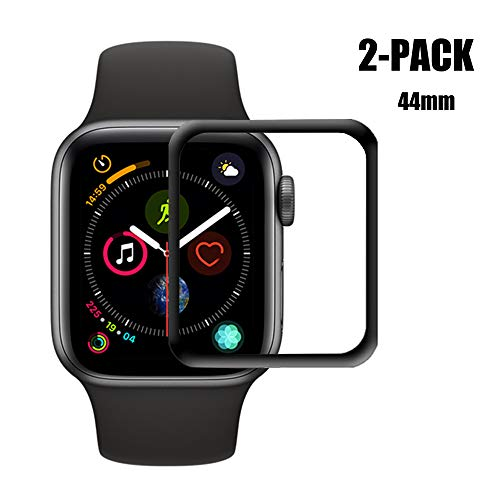 [2-Pack] Apple Watch Series 4 44mm Screen Protector Glass, HOMSRAY 3D Full Coverage Tempered Glass Screen Protector Film for iWatch 44mm Series4