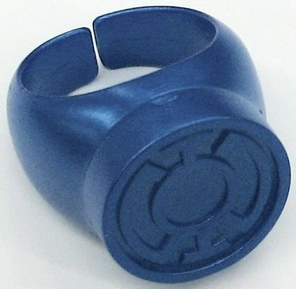 Blue Lantern Ring (Blackest Night Blue Lantern Ring DC Comics Green)