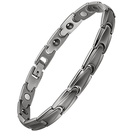 COFITNESS Womens Titanium Magnetic Therapy Bracelet with Healing Magnets Pain Relief for Arthritis,3500 Gauss by COFITNESS