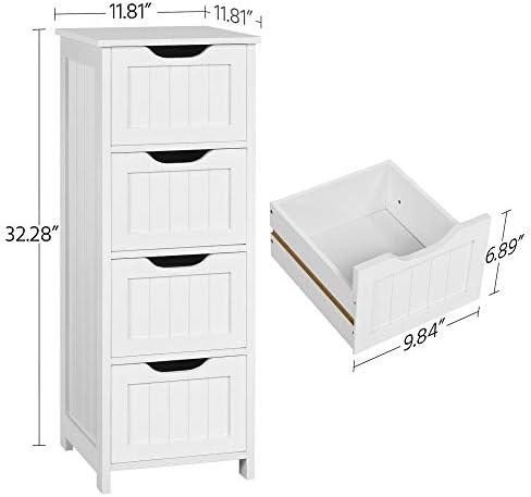 home, kitchen, furniture, accent furniture,  storage cabinets 12 discount Yaheetech Bathroom Floor Cabinet, Wooden Side Storage Organizer deals