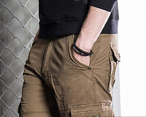 Allentati Tasca Cargo Kaffee Multipli All'aperto Vintage Da Trekking Huixin Casual Skinny Pantaloni Lavoro Uomo apx0qZP