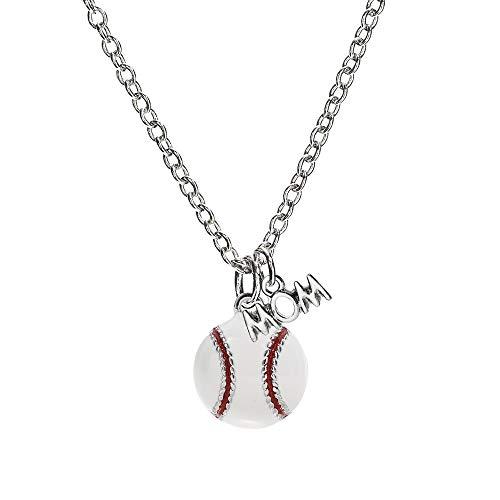 (GIMMEDAT Baseball Enamel Mom Necklace Jewelry Player Gift)