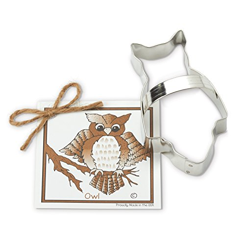 (Owl Cookie and Fondant Cutter - Ann Clark - 4.8 Inches - US Tin Plated)