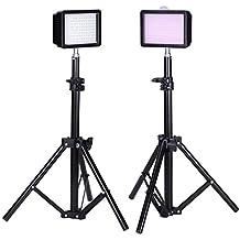 "Bestlight® Photography 160 LED Studio Lighting Kit, including (2)Ultra High Power 160 LED Video Light Panel Digital Camera DSLR Camcorder LED Video Light (2)32""/80cm Tall Photography Mini Light Stand"