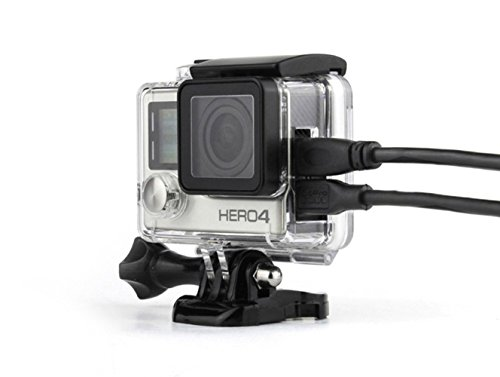 Aiposen Side Open Skeleton Housing compatible with GoPro Hero4 Hero3+ cameras With Bacpac Touched Panel LCD Screen Protective backdoor and lens