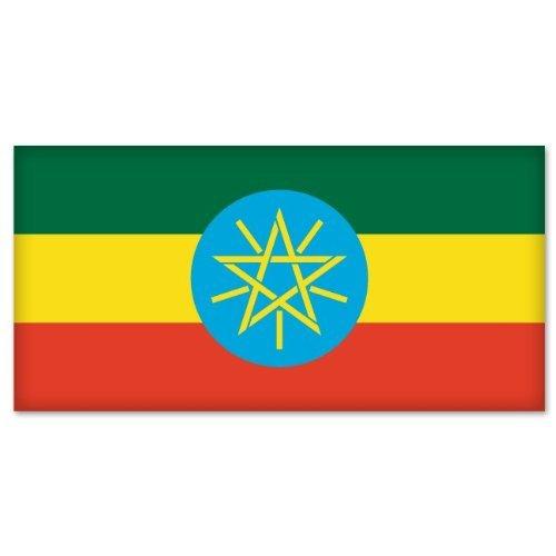 - Ethiopia Flag car bumper sticker decal 6