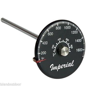 Imperial Tubo de gas de chimenea Pellet estufa de madera para termómetro de sonda Vent 1.700 F kk0166: Amazon.es: Bebé
