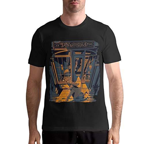 Hye D Riche Dave Matthews Band-2019 Tour Men Basic Short Sleeve Music Band Shirts Shirt Black M