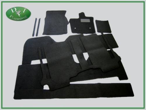 D.Iプランニング カー用品 フロアマット & ラゲッジマット セット 型番4 【 トヨタ ヴェルファイア 20系 後期型 】 車用 カーマット DX黒 B011KO7Q8S 後期 型番4|DX黒 DX黒 後期 型番4
