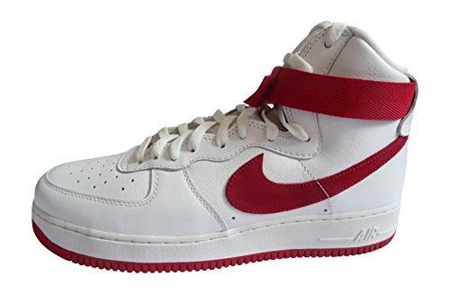 Nike Air Force 1 Hi Retro Qs Heren Hi Sneakers 743.546 Schoenen Van De Top Witte Universiteit Rood 100