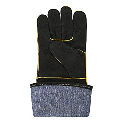 OLSON DEEPAK Welding Gloves HEAT RESISTANT Cow Split Leather BBQ/Camping/Cooking Gloves Baking Grill Gloves Welder Fireplace Stove Pot Holder WorPlace Glove (16 INCH)
