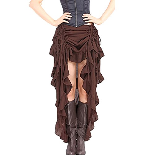 Pirate Tights (Halloween Gothic Pirate dress Steampunk Cocktail Party Skirts High-Low)