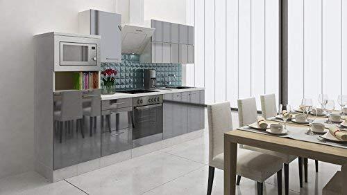respekta PREMIUM empotrable cocina cocina pequeña 280 cm ...