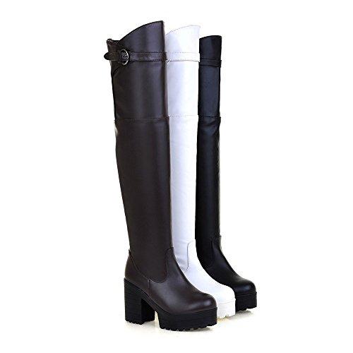 Alto A White Bianco nbsp;il Tacco Ladies Boot Ginocchio Yypf Lunghi Stivali YanvzvRq