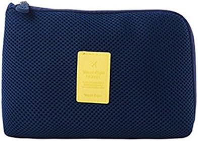 GUPENG Aufbewahrungsbeutel für Schmutz Kosmetik-Organisator-Beutel, Stoß- beweglichen Digital-Ablagefach for Quilts/Kissen/Pullover/Jacken (Color : Dark Blue)