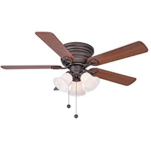 Clarkston 44 In. Oiled Rubbed Bronze Ceiling Fan with