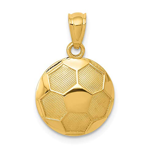14k Yellow Gold Soccer Ball Pendant