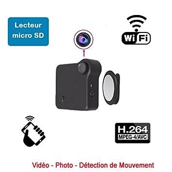 Mini cámara espía acción vigilancia wifi P2P 1280 x 720 H264 detección de movimiento aplicación Android iOS dv-wc720: Amazon.es: Deportes y aire libre