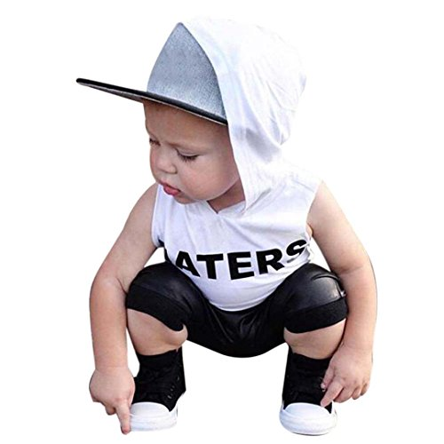 Newborn Boys Pant - GBSELL 2PC Summer Newborn Baby Toddler Boys Hoodie Shirt +Shorts Pants Outfit Clothes Set (White, 4/5T)