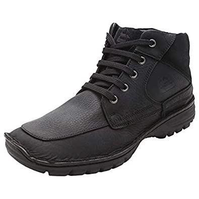 a68ab82e41e LOTUS BAWA Men's Casual Combat Boots, Ankle Dress Boot for Men, Genuine  Leather Men Ankle Boots High Top Lace Up Dress Shoes