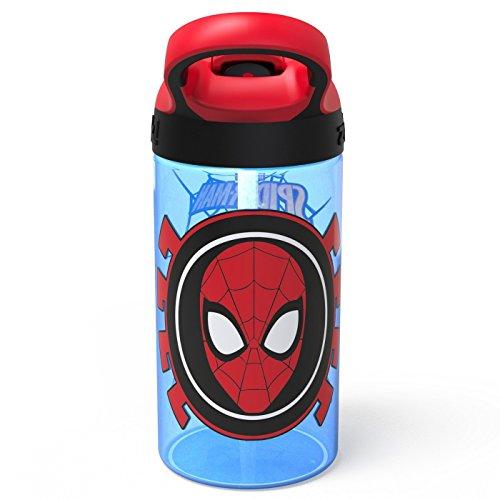 (Marvel Spider-Man 16oz Plastic Water Bottle Blue/Red)