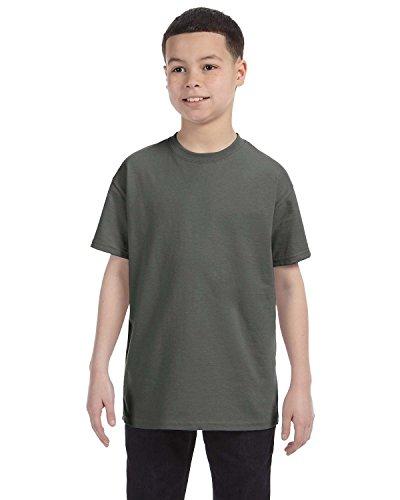 - By Gildan Gildan Youth 53 Oz T-Shirt - Military Green - XS - (Style # G500B - Original Label)