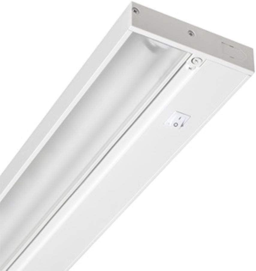 Juno UPF22-WH Pro-Series Fluorescent Under Cabinet Fixture, 22-Inch, 4-Lamp, Designer White,