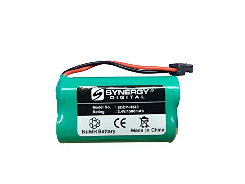 Price comparison product image Radio Shack 433534 Cordless Phone Battery Ni-MH, 2.4 Volt, 1500 mAh - Ultra Hi-Capacity - Replacement for Panasonic HHR-P506 Rechargeable Battery