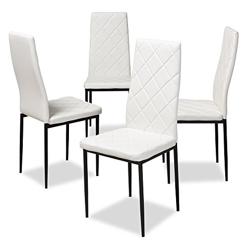 Baxton Studio Blaise Modern And Contemporary White Faux Leather Upholstered