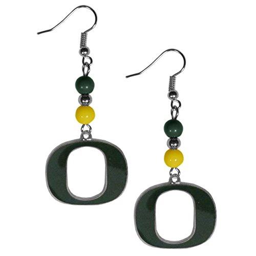 Duck Dangle Post (NCAA Oregon Ducks Fan Bead Dangle Earrings)