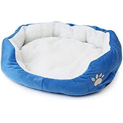 gangnumskythaii Dogs Cat Beds House Furniture Blanket Pad Nest Toy Accessories Fleece Soft Warm Kennel Plush Mat Pet Products Small Cama Para Cachorro Mascotas Blue(TypeA6)