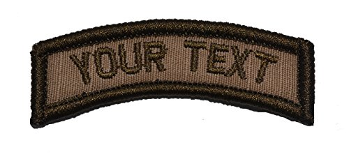 Customizable Text Tab Patch w/Hook Fastener Morale Patch - Coyote - Text Patch