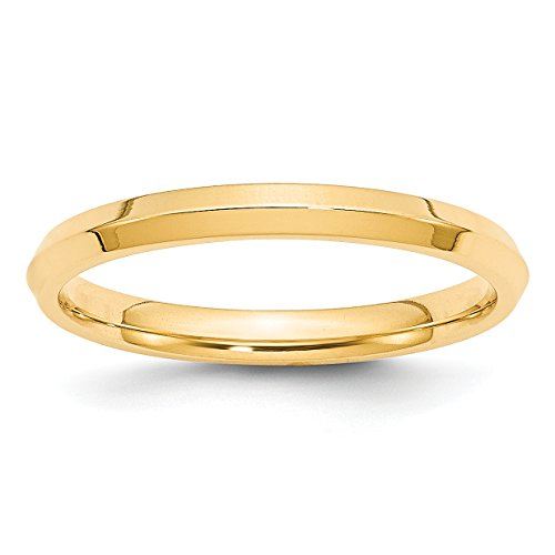 (14k Yellow Gold 2.5mm Knife Edge Comfort Fit Wedding Band Size 6.5)