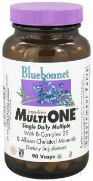 Bluebonnet Multi One Iron Free Vegetable Capsules, 90 Cou...