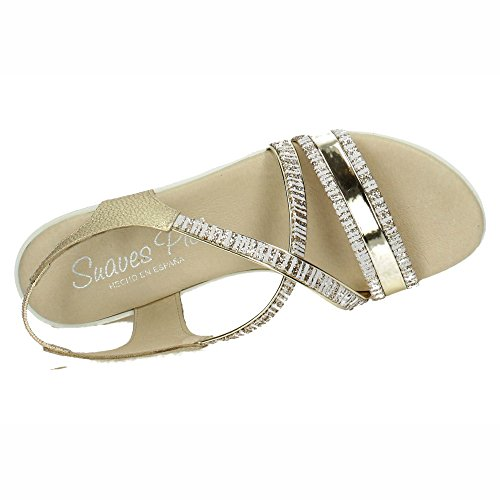 Mujer Gel Platino Made 937 Spain Planta Sandalias In nwxP84FRq1