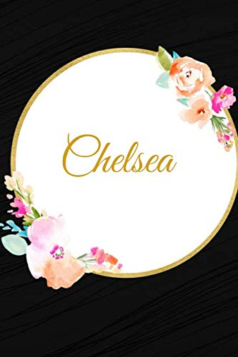 (Chelsea: Customized Name Lined Journal Notebook Diary to Write In, Ruled Composition Planner, For Home Work Stationery, Great Gift for Girls Women, ... portable 6