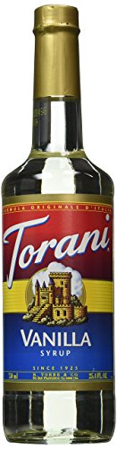 Torani® Vanilla Syrup (750 mL /25.4 oz ) Chocolate Vanilla Corn Syrup