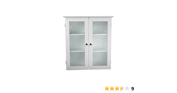 Black And White Glass Wall Cabinet x2
