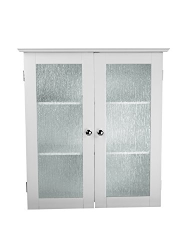 Elegant Home Fashions Connor 2-Door Wall Cabinet in White