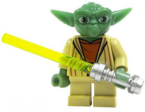 Wars Minifigure - Yoda with Lightsaber ()