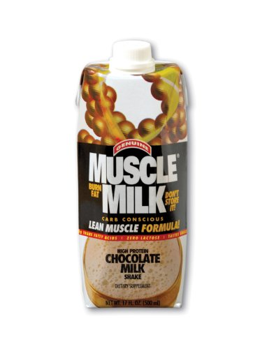 CytoSport Muscle Milk Ready-to-Drink Shake, Chocolate, 17 Ounce Cartons (Pack of 12)