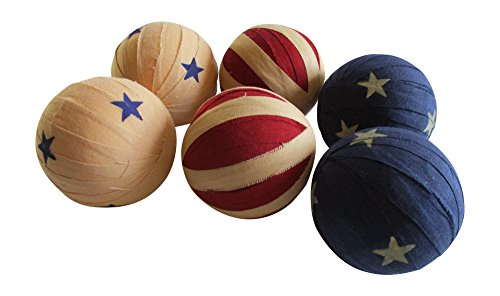 From The Attic Crafts Americana Flag Rag Ball