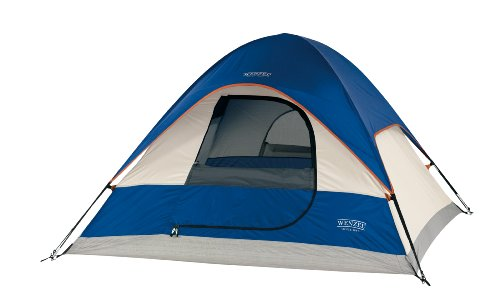 Wenzel Ridgeline 7 X 7-Feet Three-Person Dome Tent (Blue/LightGrey/Red), Outdoor Stuffs