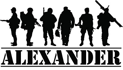 Custom made Personalized Custom name Military Army Soldiers wall decal home decor sticker decor-You choose name and color