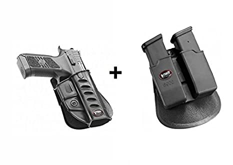 Fobus Conceal Concealed Carry Paddle Holster + 6900 Double Magazine Pouch  Fits CZ 75 P-07 Duty & P09 Tanfoglio Stock 3