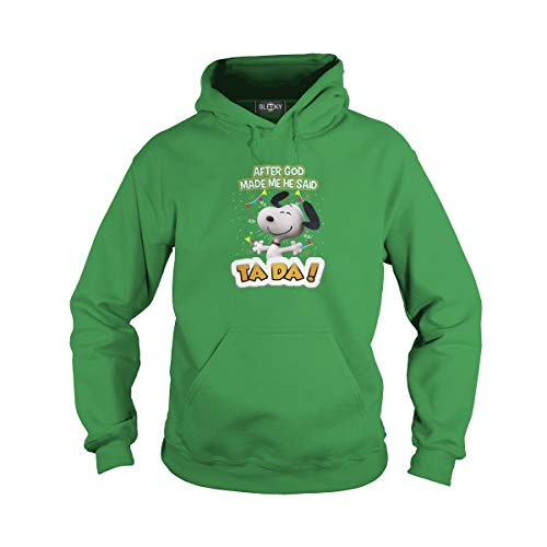 Unisex Snoopy After God Made Me He Said Ta Da (M, Green) ()