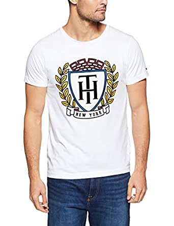 Tommy Hilifiger Men's Classic Shirt, Bright White, X-Small