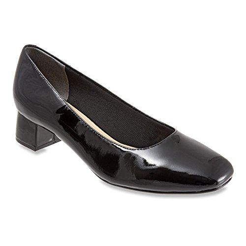 Trotters Women's Lola Dress Pump Black Soft Patent Leather sale clearance store clearance ebay tRwJV