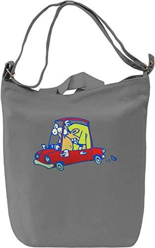 Man In A Mini Borsa Giornaliera Canvas Canvas Day Bag| 100% Premium Cotton Canvas| DTG Printing|